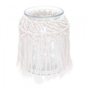 Vaso de Vidro Cross Lines Basic Transparente 15cm - Urban
