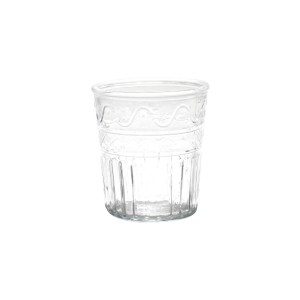 Vaso de Vidro Wave Lines Basic Transparente 15cm - Urban