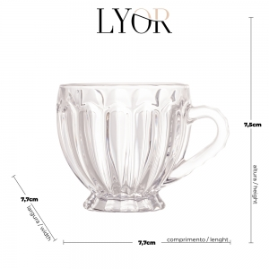 Xícara 200ml de Cristal Renaissance - Lyor