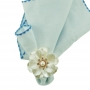 Anel p/ Guardanapo 4 pç Plástico Flor - Royal