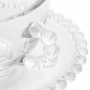 Cj 4 Xícaras Cha com Pires Cristal de Chumbo Pearl 180ml - Wolff