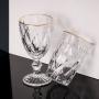 CJ 6 Taças p/ Água 325 ml de Vidro Fio de Ouro Diamond - Lyor