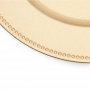 Conjunto 6 Sousplats Plástico Gold Clean 33cm - Rojemac