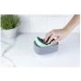 Dispenser Fechado p/Detergente e Esponja Trium Preto - OU