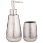 Kit 2pç p/ Banheiro Prata em Cerâmica - Mart