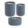 Kit 3 Velas com Suporte em Cimento Azul - Mart