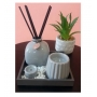 Kit Aromatizador Zen Decorativo Cerâmica e Madeira Cinza - Lyor