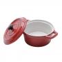 Mini Caçarola com Tampa Porcelana Vermelha 13cm - Rojemac