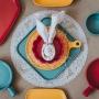 Mini Travessa Porcelana Nórdica Amarelo 20x15cm - Bon Gourmet