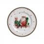 Conjunto Prato Sobremesa 6 Pçs Father Christmas - Alleanza