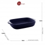Travessa Porcelana Nórdica Azul 23x13cm - Bon Gourmet