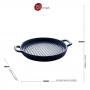 Travessa Porcelana Nórdica Azul 24x19cm - Bon Gourmet