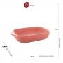 Travessa Porcelana Nórdica Rosa 23x13cm - Bon Gourmet