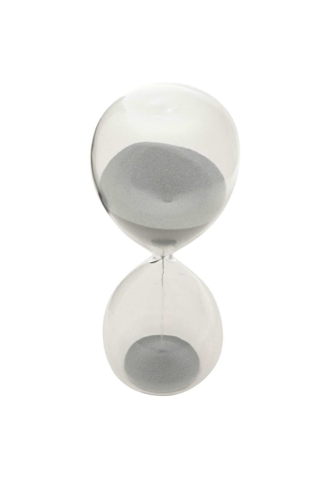 AMPULHETA VIDRO CLEAR GLASS PRATA 20 MIN 6,5X6,5X17CM - URBAN 42746