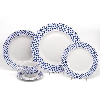 Aparelho de Jantar 20 pç Porcelana Motion Blue - Mcd