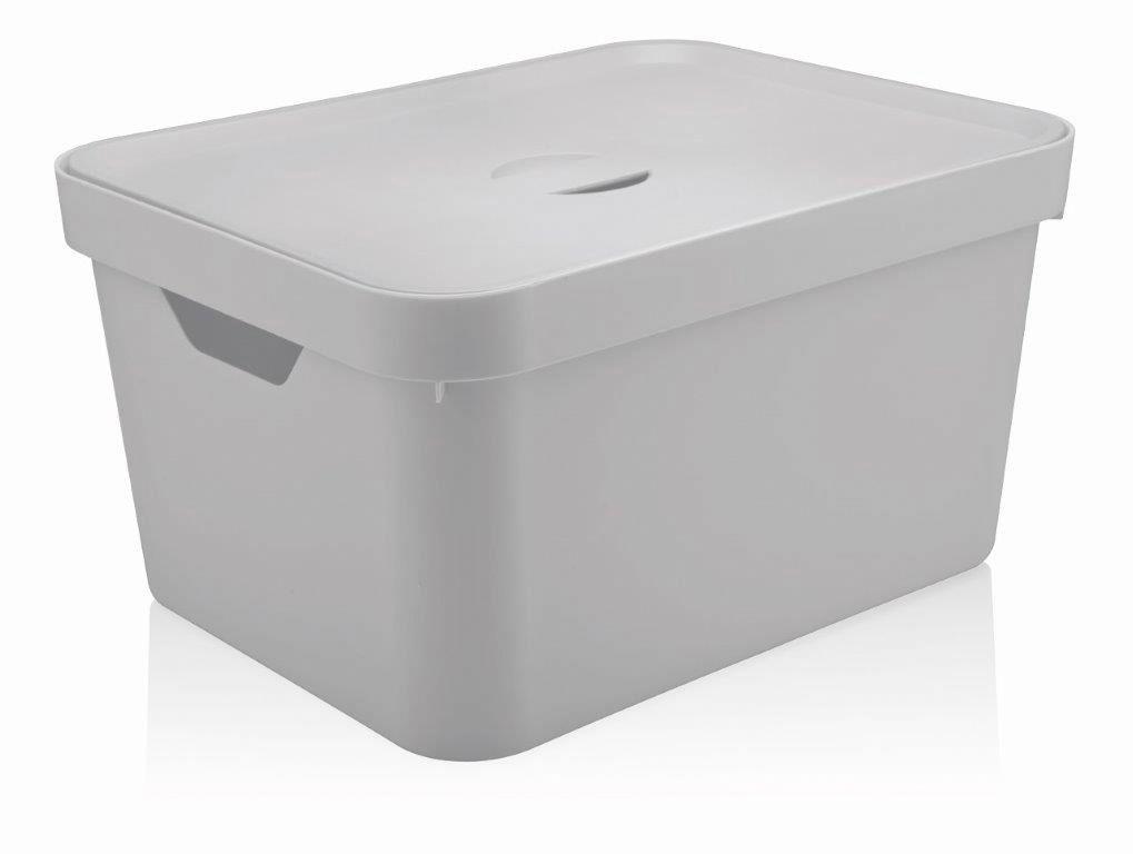 Caixa Organizadora Cube G Com Tampa 32L Branco - Ou