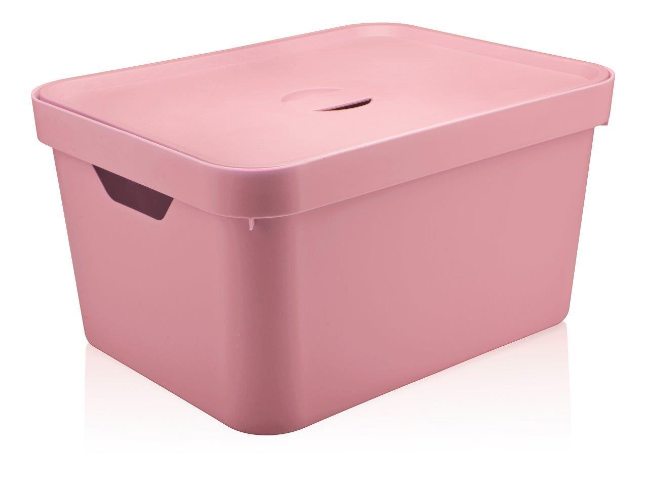 Caixa Organizadora Cube G Com Tampa 32L Rosa Quartz - Ou