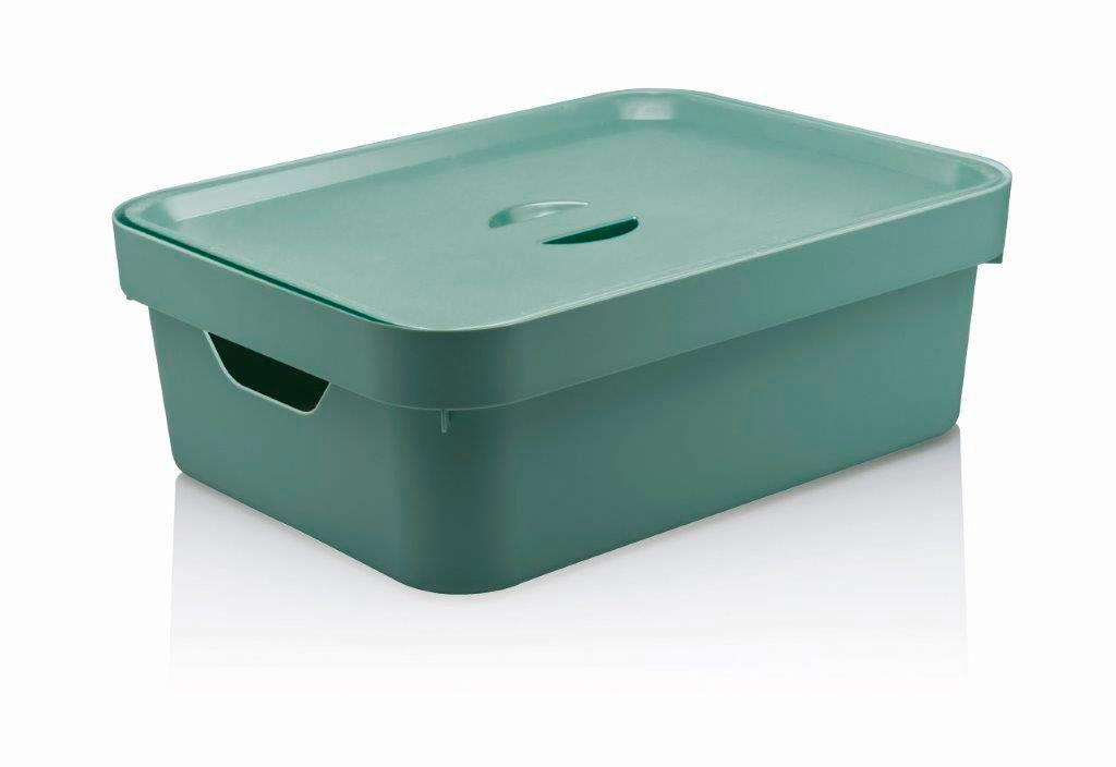 Caixa Organizadora Cube M Com Tampa 10,5L Verde Menta - Ou