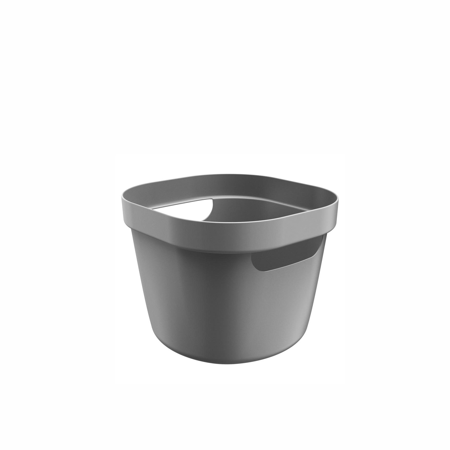 Cesto Organizador 4L Cube Flex Chumbo - OU