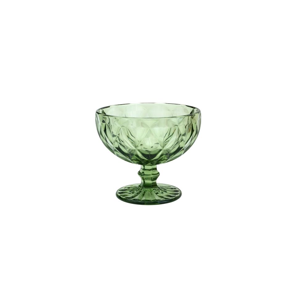 Cj 6 Taças 310ml de Vidro Verde Diamond - Lyor