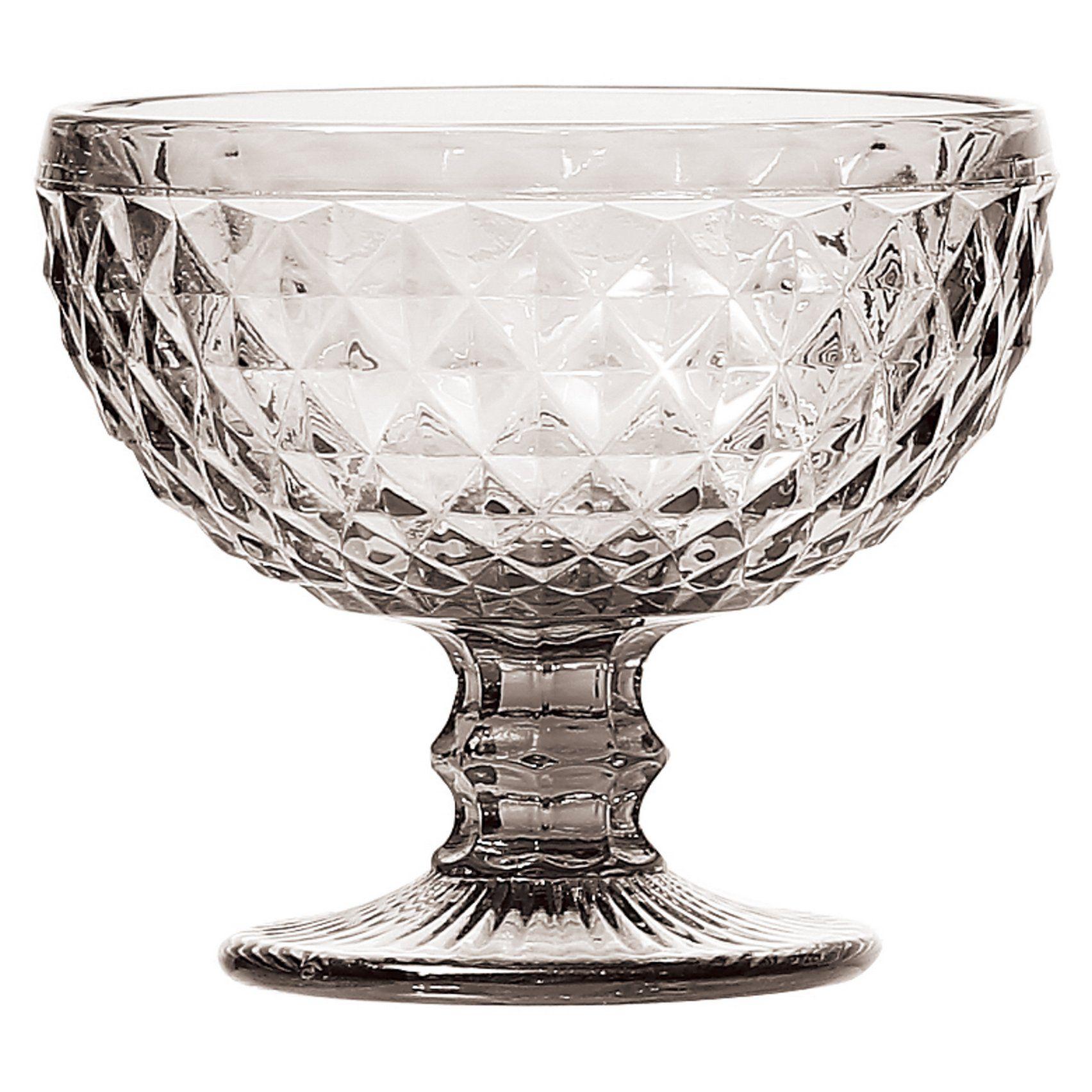 Cj 6 Taças de Vidro Bico de Abacaxi Transparente 310ml - Lyor