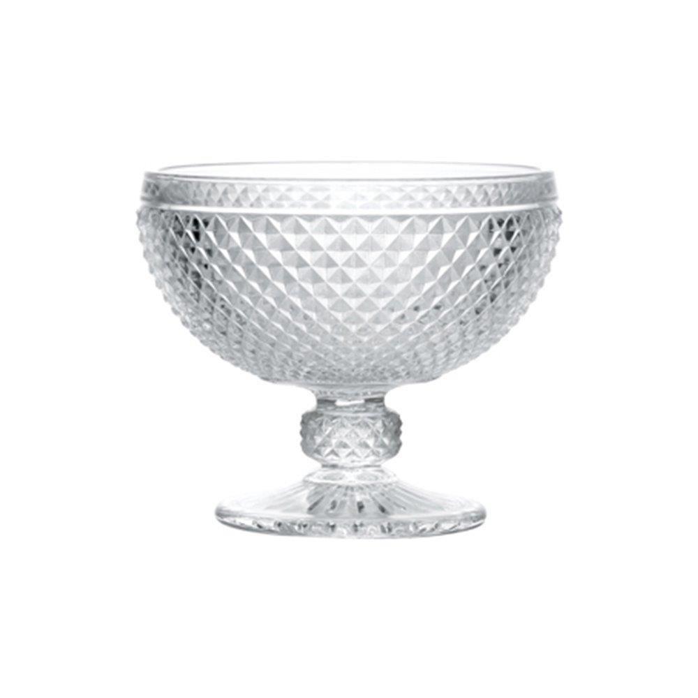 Conjunto 6 Taças Bico De Jaca De Vidro Sobremesa Transparente 300 Ml - Rojemac