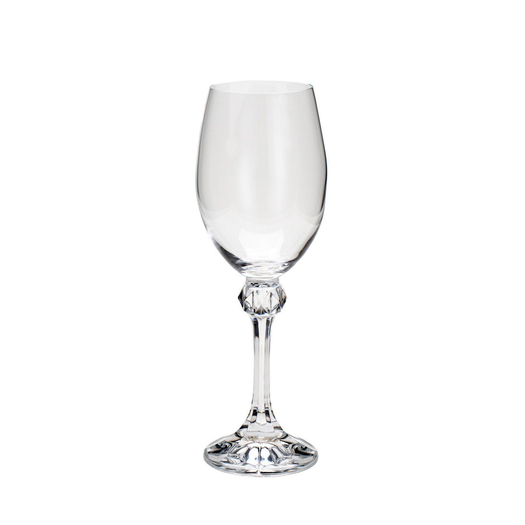Cj 6 Taças Vinho Branco Cristal Bohemia Elisa 250ml - Rojemac