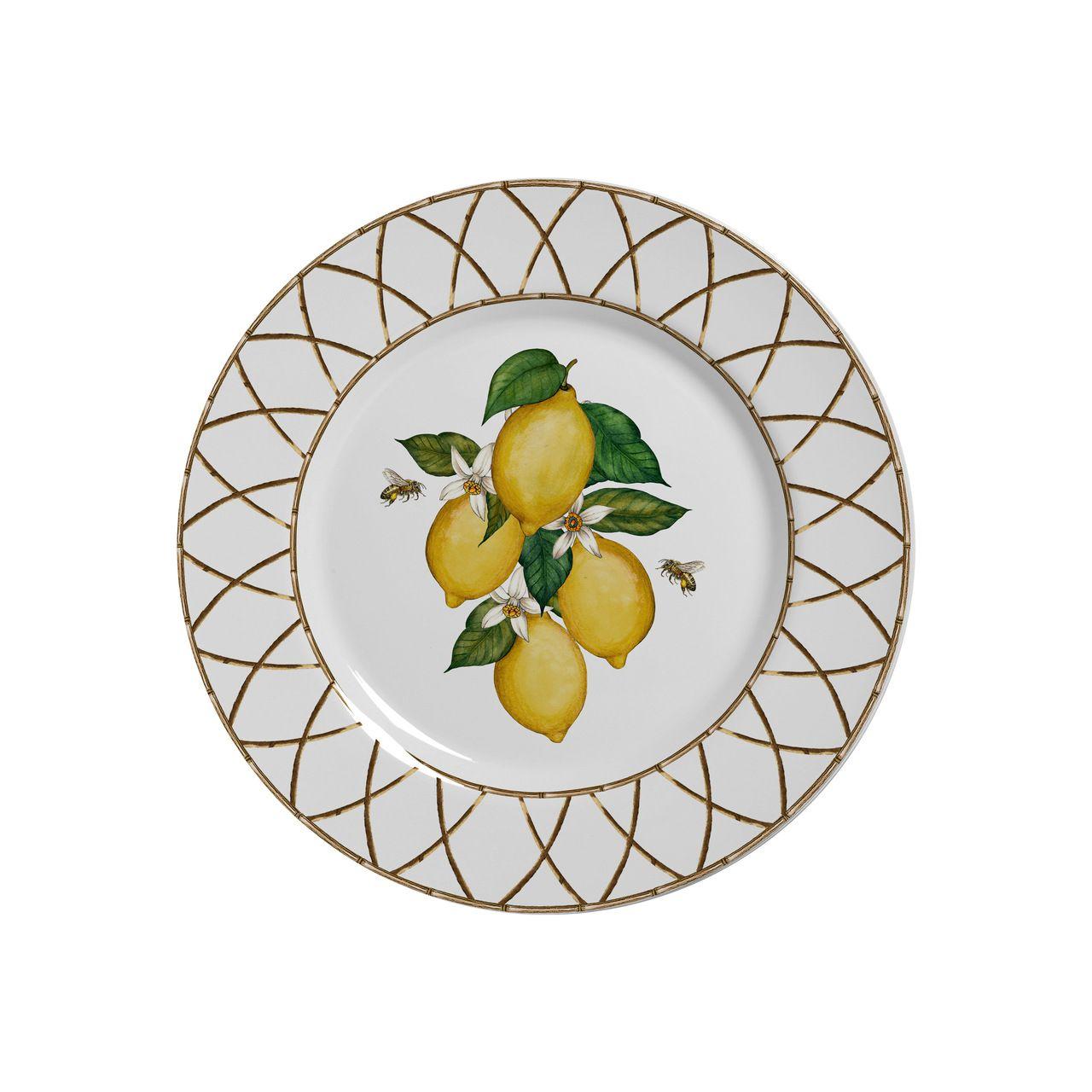 Conjunto Prato Sobremesa 6 Pçs 19,5 Cm  Siciliano - Alleanza
