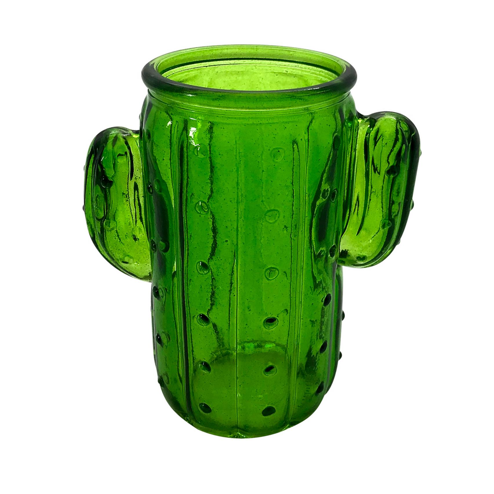 COPO DE VIDRO CACTUS VERDE WITH ARMS 11,5X7X12,7CM 350ML - URBAN 40990