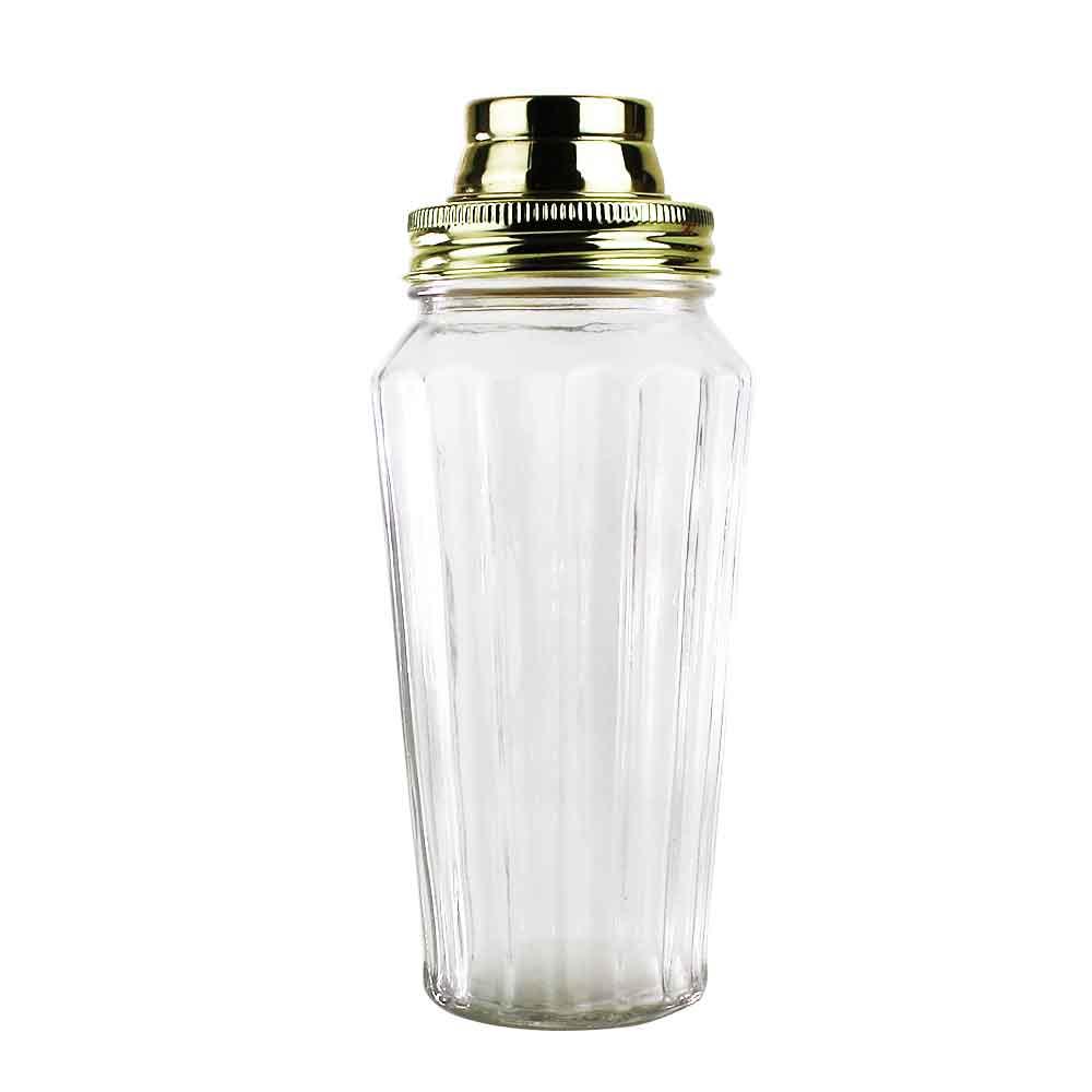 COQUETELEIRA VIDRO FINE GLASS DOURADO 8,8 X 7 X 21 CM 500 ML - URBAN 40040