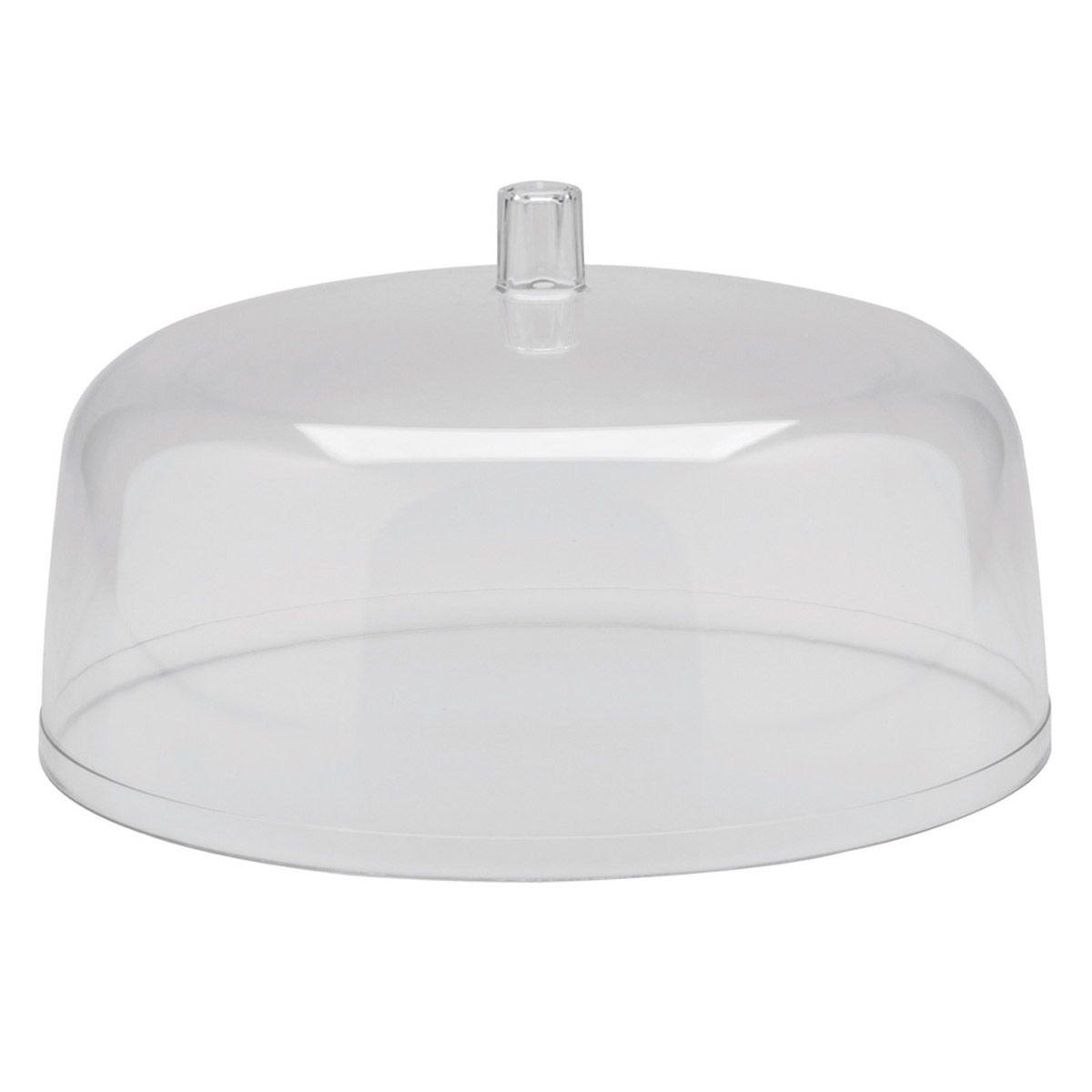 Cúpula Para Porta Bolos Festa Plástico 30Cm Natural - Ou