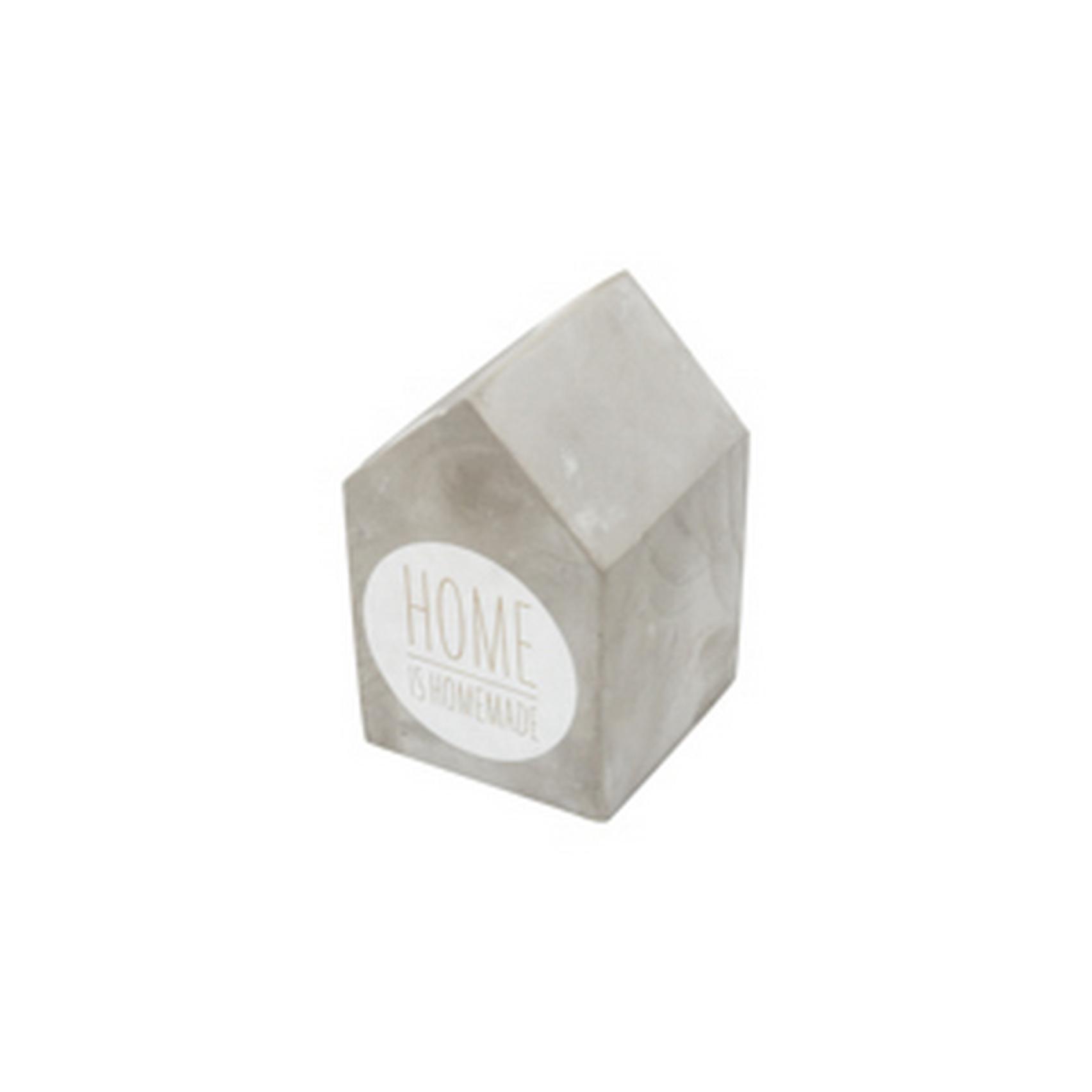 Decoração Cimento Home Is Homemade Cinza 8.5X8.5X13Cm - Urban