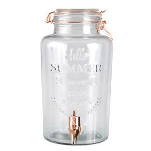 Dispenser/Suqueira Vidro Hello Summer Transparente 9,5X15X27Cm 3L - Urban