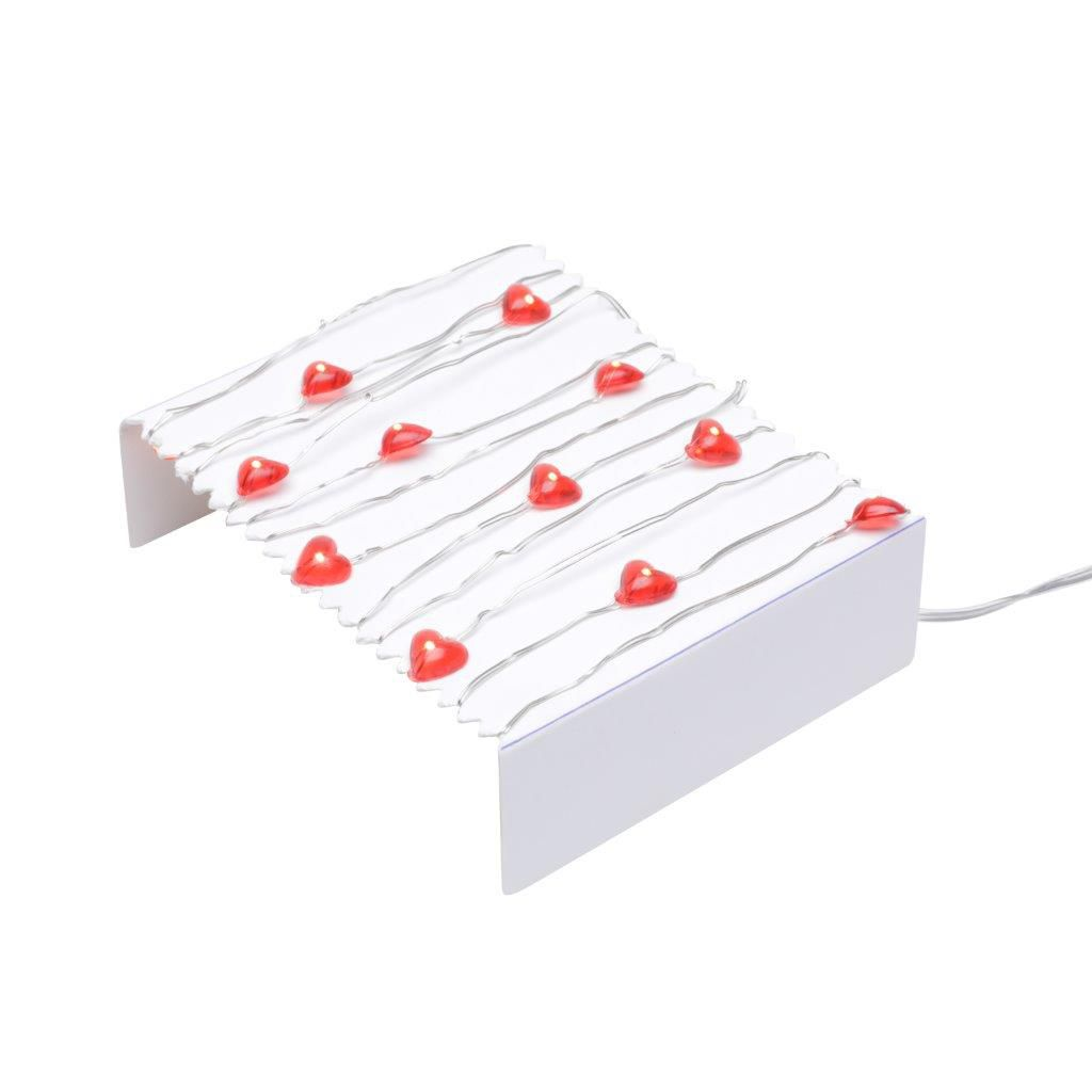 Fio Led Decor Warm Heart Vermelho 2,5 Mts - Urban
