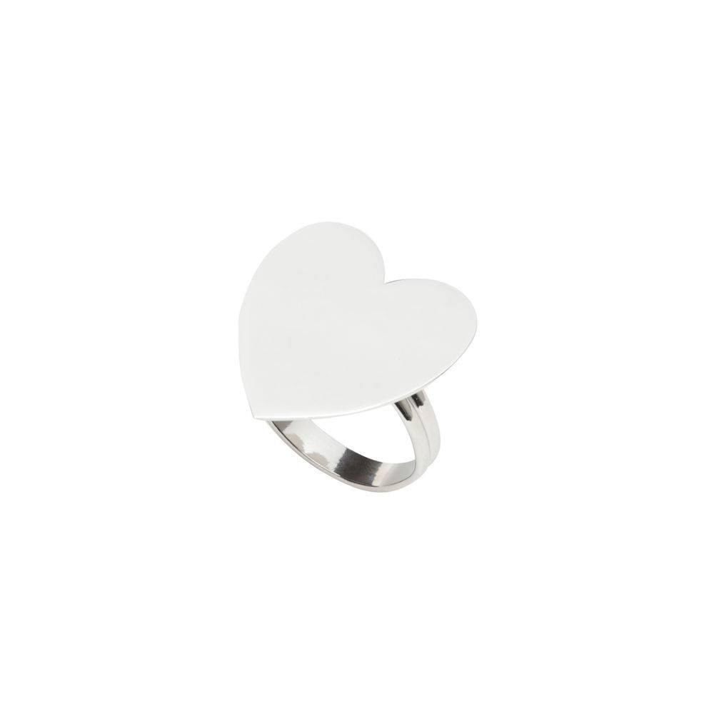 Jogo 4 Anéis P/ Guardanapos De Zamac Silver Plated Heart - Lyor