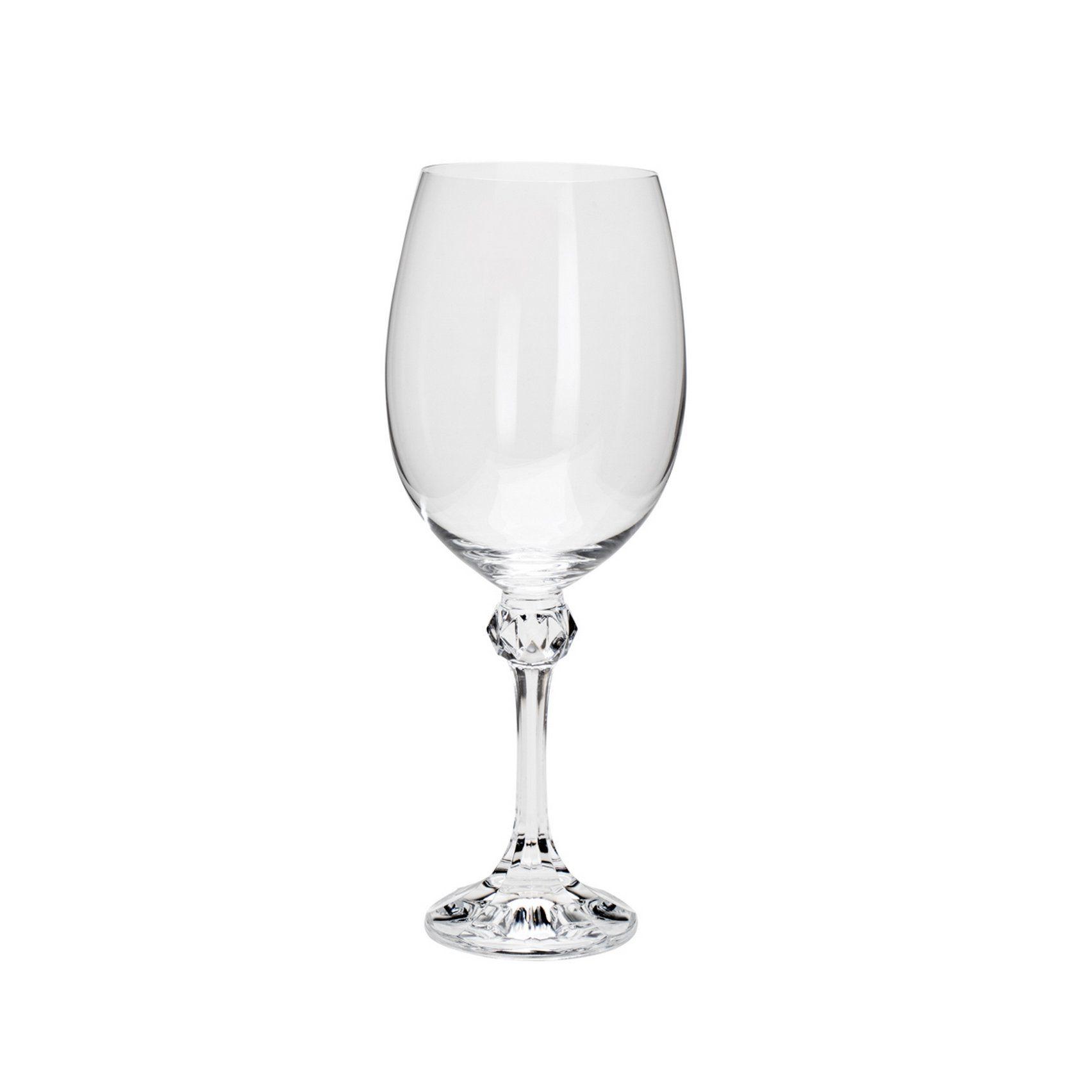 Conjunto 6 Taças Cristal Bohemia Água Elisa 450 Ml - Rojemac