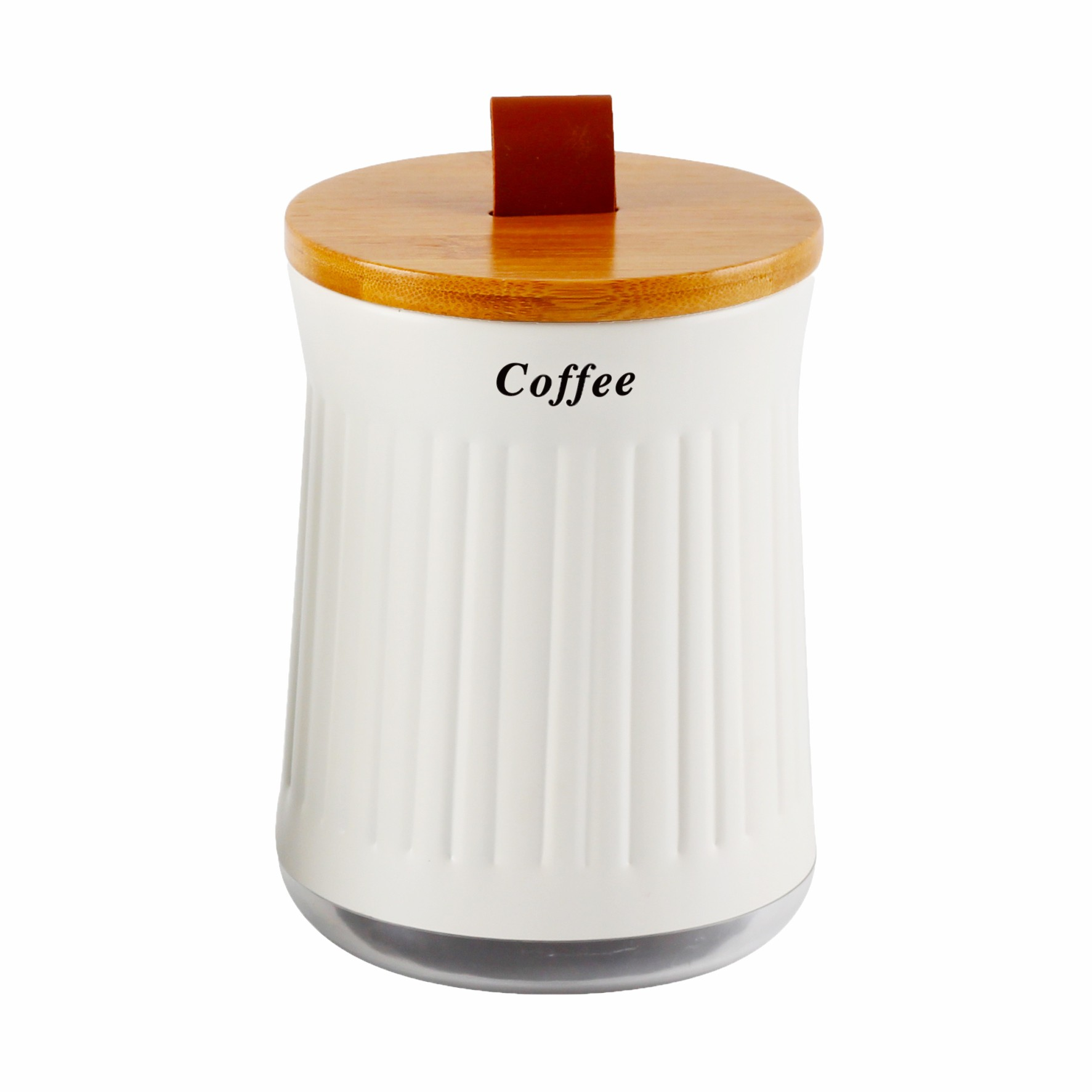 Lata Porta Mantimentos Tampa De Bambu Coffee - Yoi
