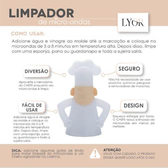 LIMPADOR DE MICRO-ONDAS DE PLÁSTICO 11X8X16CM - LYOR