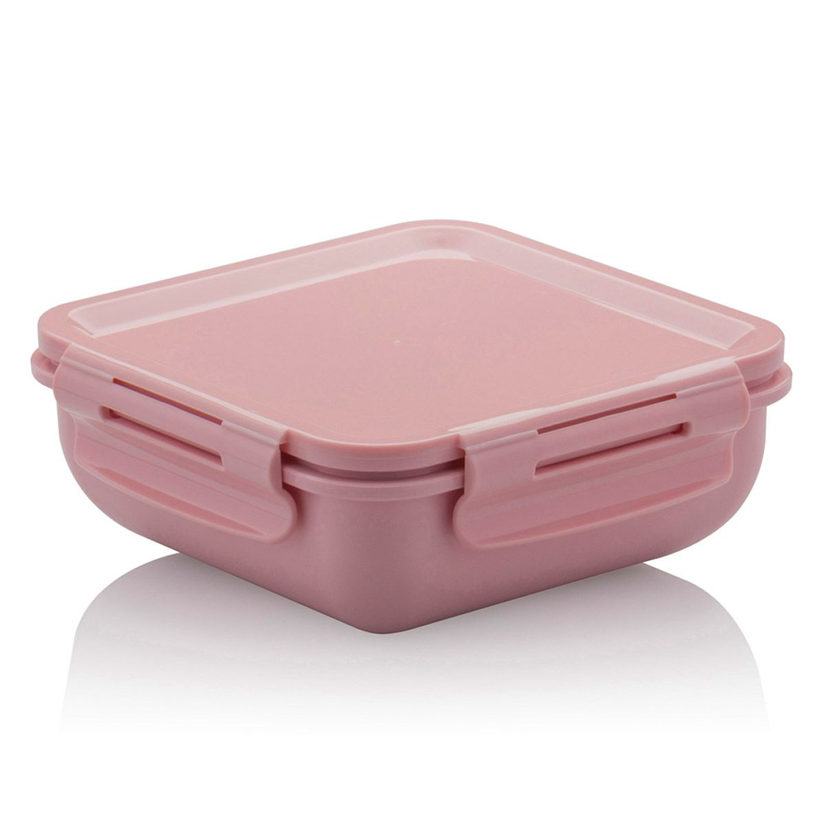 Marmita Hermética Plástico Quadrada Marmitou Rosa Quartz - Ou
