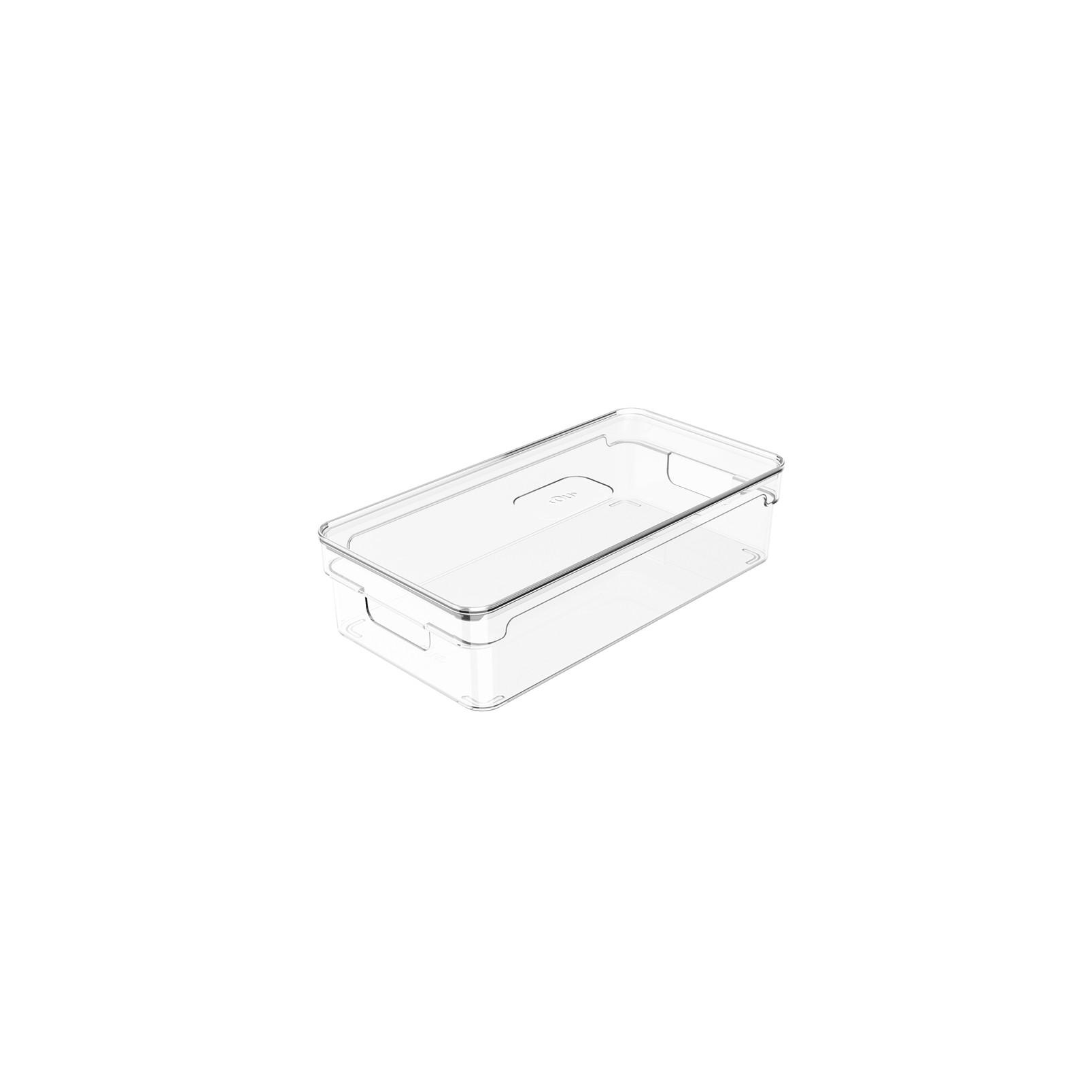 Organizador Clear com tampa 30x15x7cm Natural - Ou