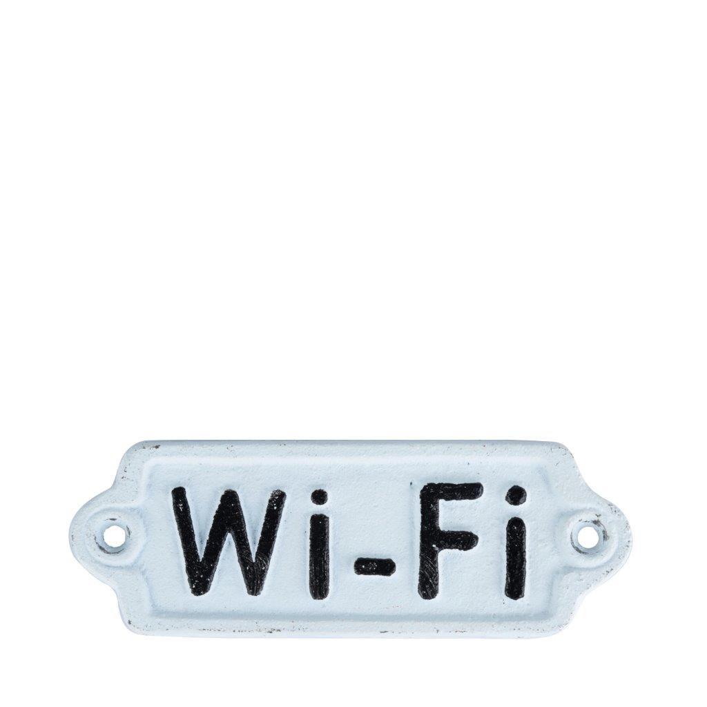 Placa Ferro Wi-Fi Branco 14,3X5,3X8,5Cm - Urban
