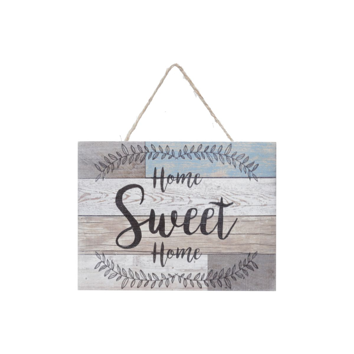 Placa Madeira Wood Mosaic Home Sweet Home Bege 20X2,5X15 Cm - Urban