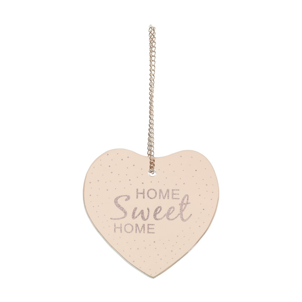 PLACA METAL MIRROR HEART SHAPE HOME COBRE 12X12,5 CM - URBAN 42572