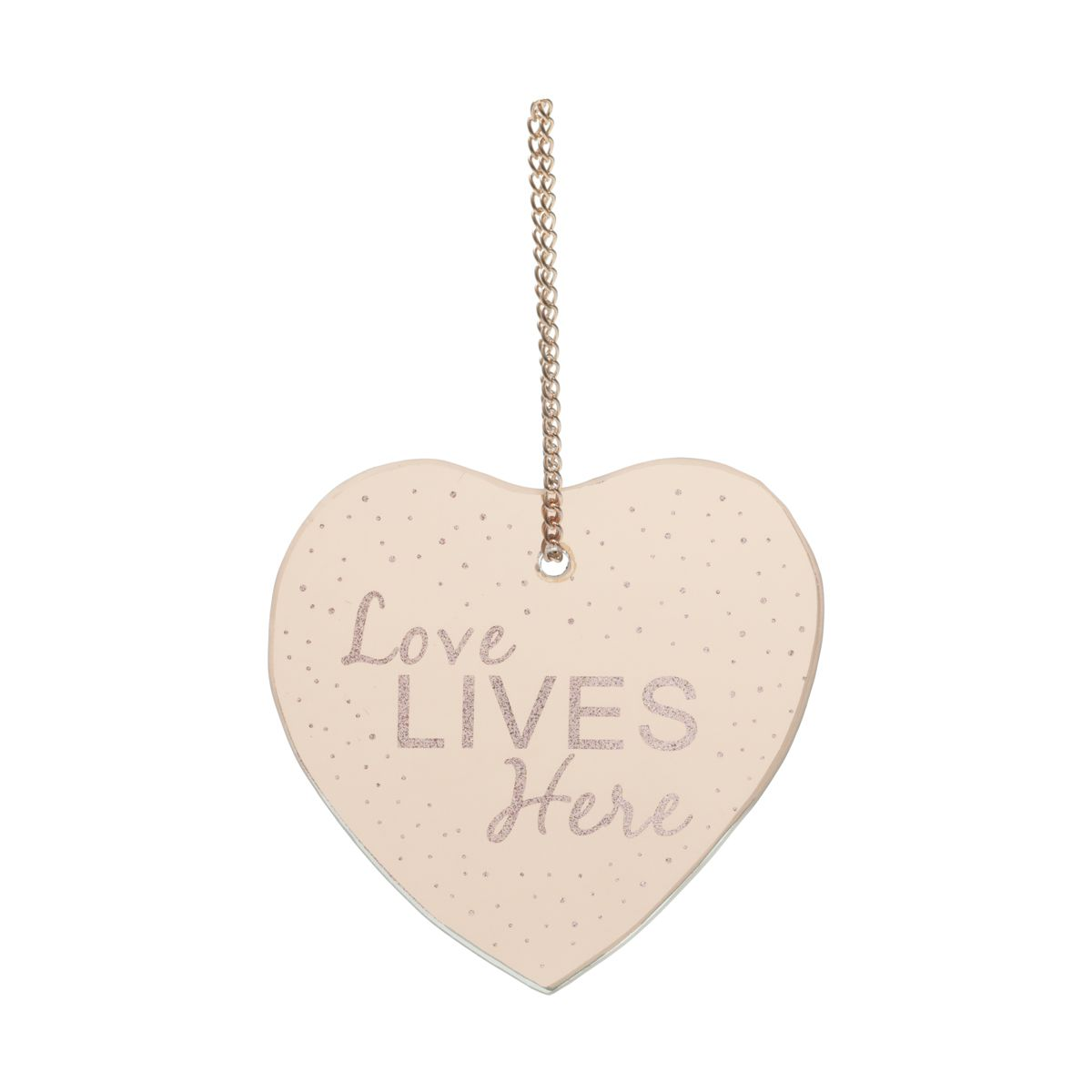 PLACA METAL MIRROR HEART SHAPE LOVE COBRE 12X12,5 CM - URBAN 42573