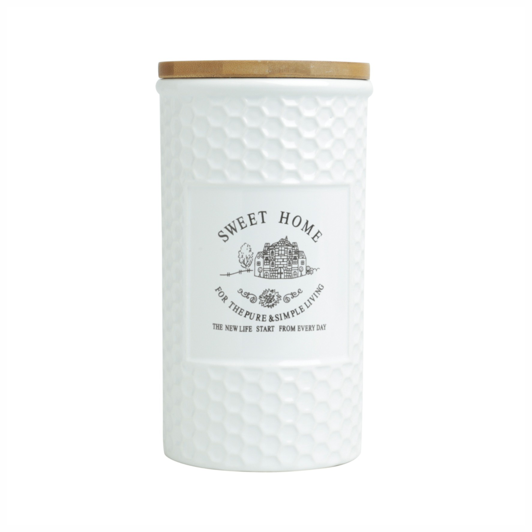Pote de Mantimentos de Porcelana 1,25lt Sweet Home - ROJEMAC