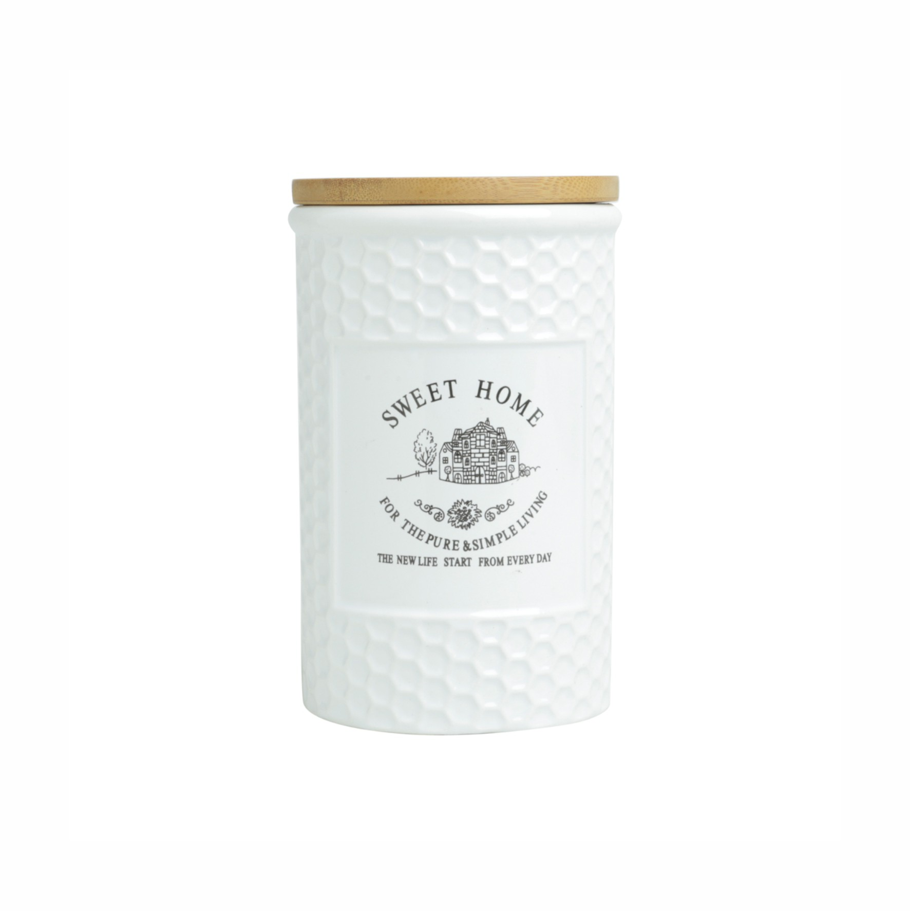Pote de Mantimentos de Porcelana 1lt Sweet Home - Rojemac
