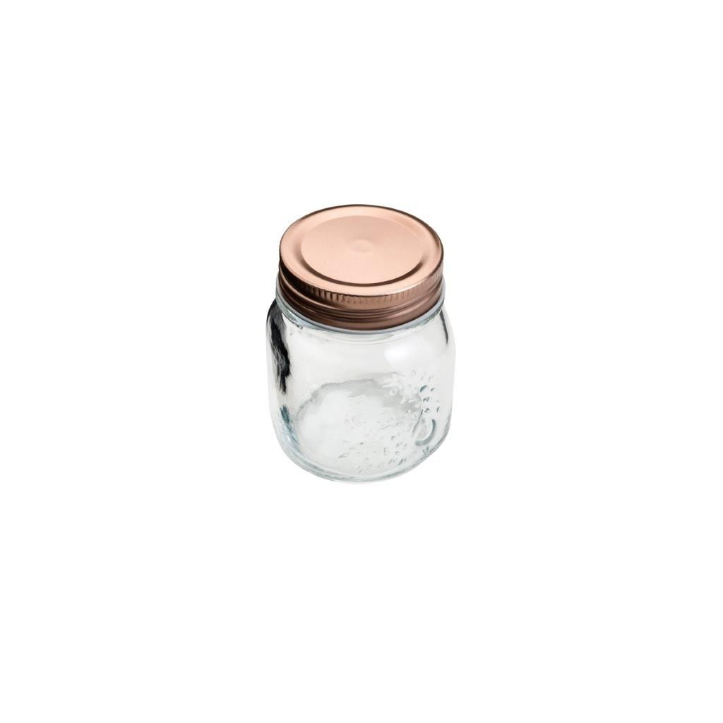 Pote de Vidro c/ Tampa Rose Gold Fashion 150 ML - Lyor