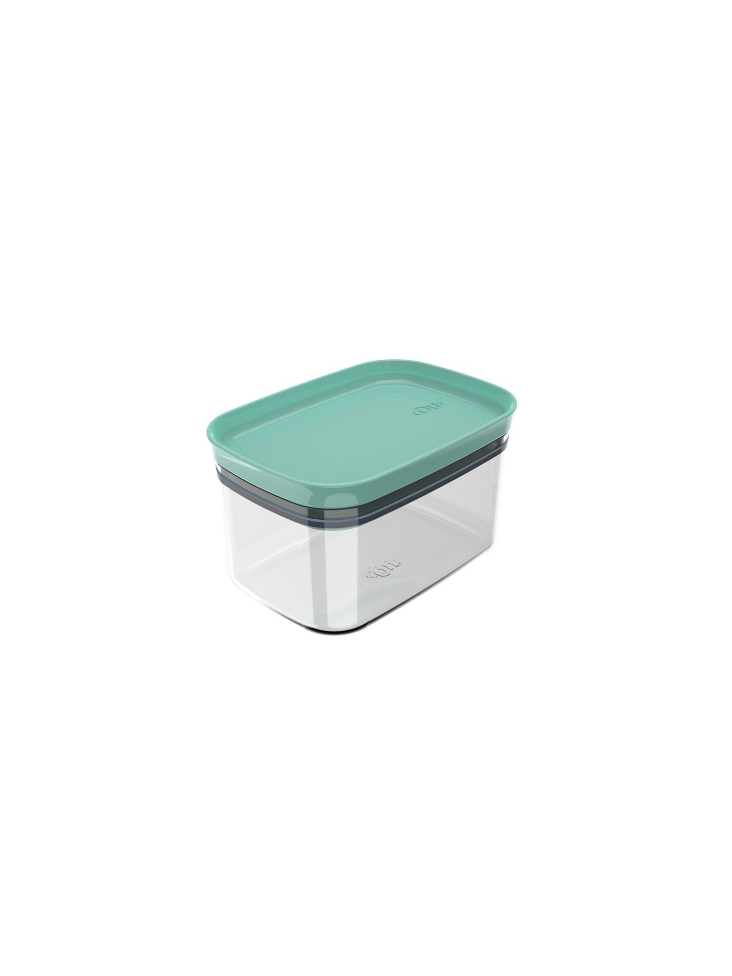 Pote Organizador Hermético Retangular Block 0,65L Verde Menta - Ou