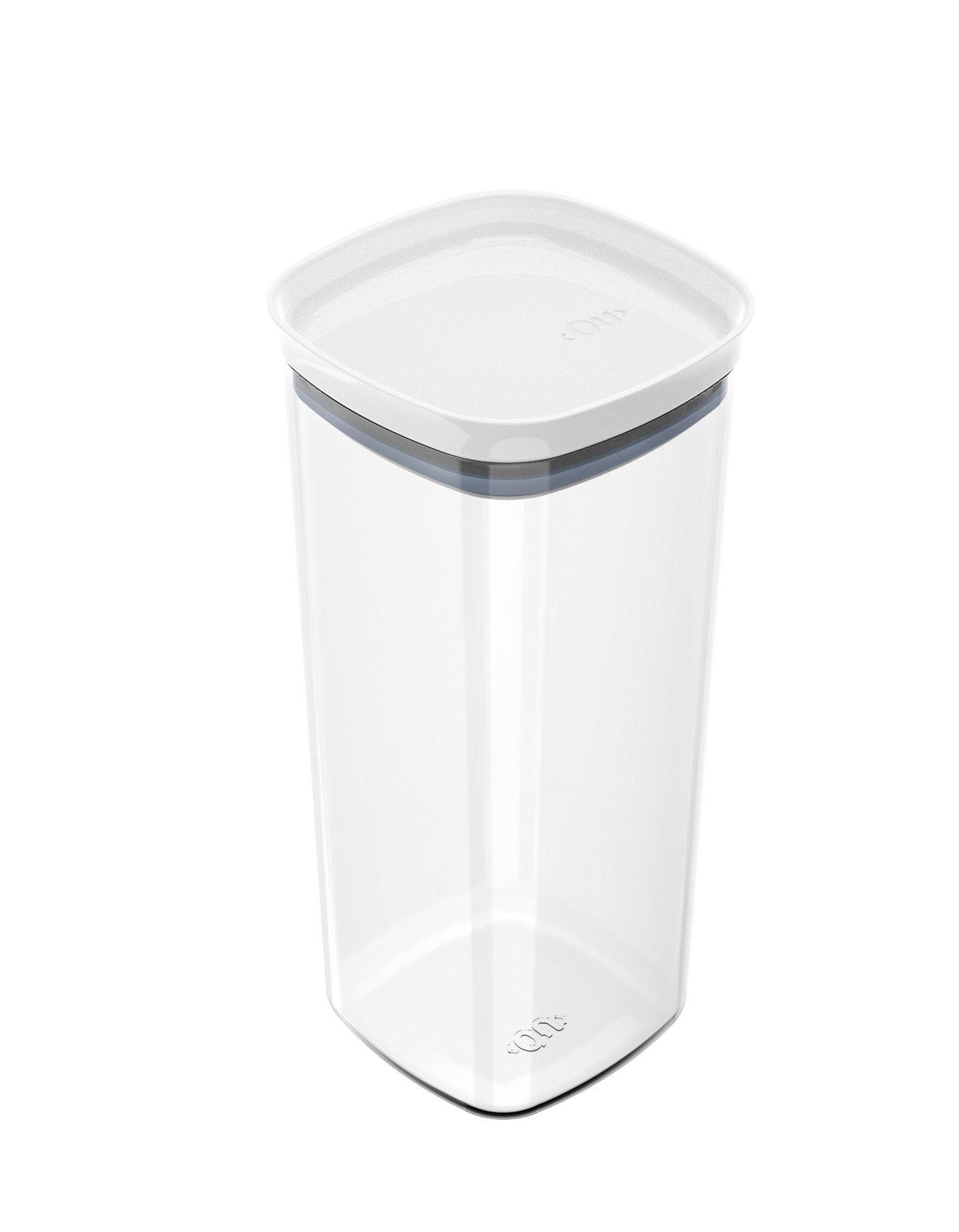Pote Organizador Hermético Quadrado Block 1,5 Litros Branco - Ou