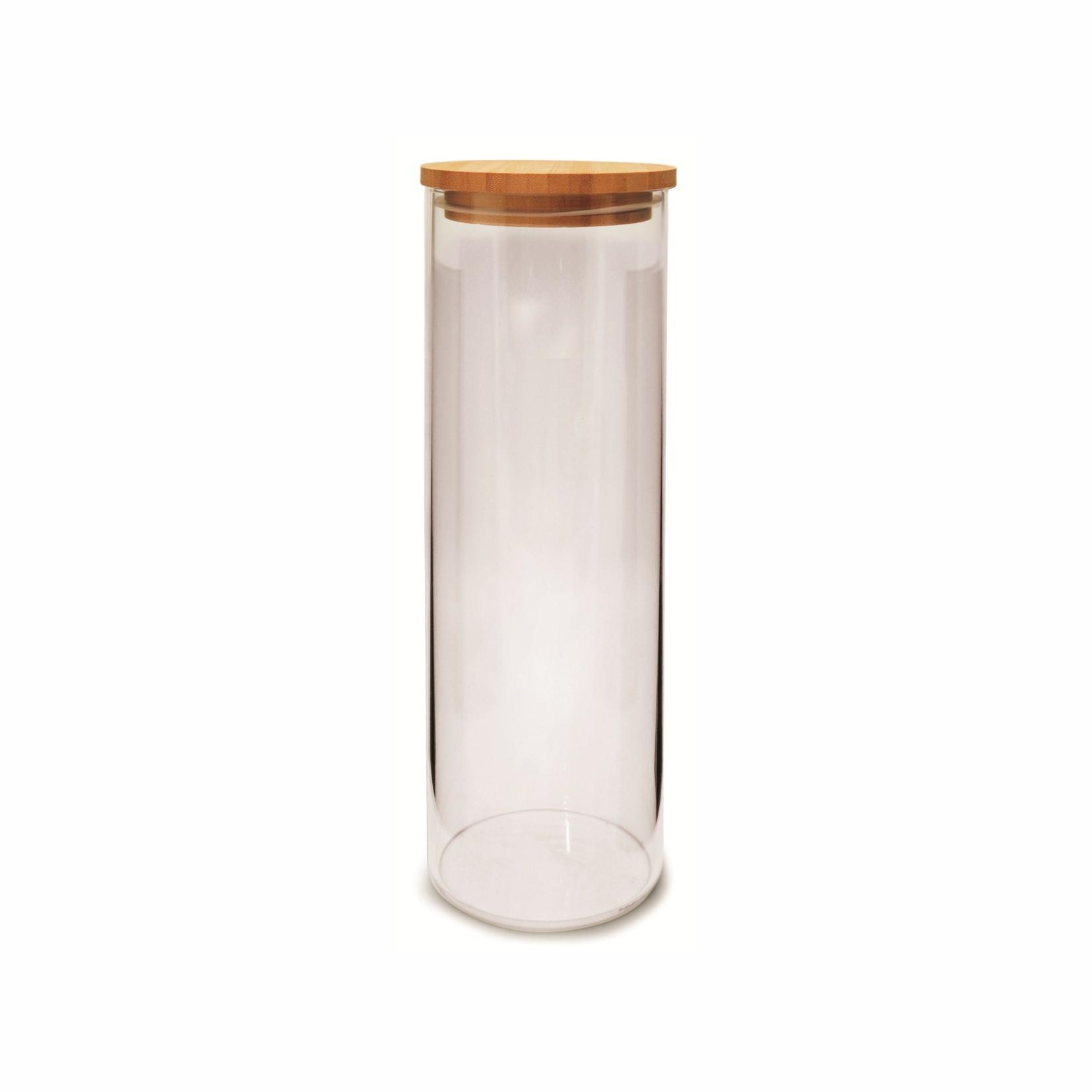 Pote Vidro Com Tampa Hermética De Bambu Eco 1,65L - Yoi